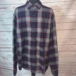 Untuckit Men's Long Sleeve Button Up Shirt Size XL